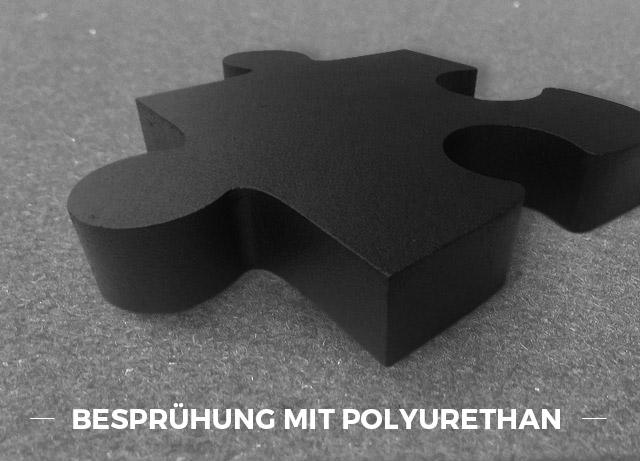 Besprühung mit Polyurethan